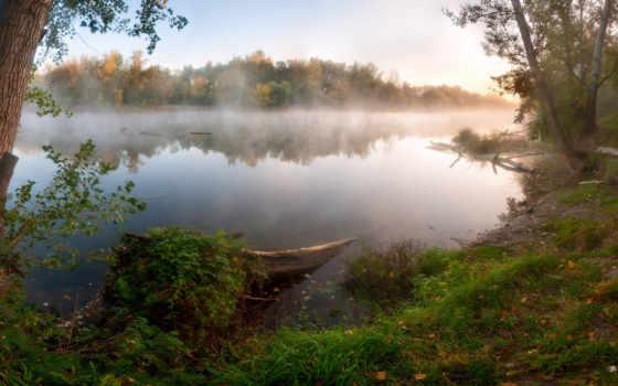 water, natur, landscape, природа, лес, hintergrundbild, und, rocks, nebel,
