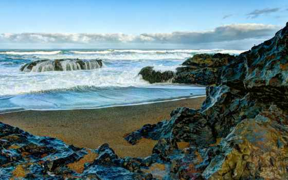 море, берег, rocks