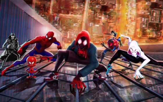 паук, human, мужчина, сквозь, universe, стих, into, cartoon