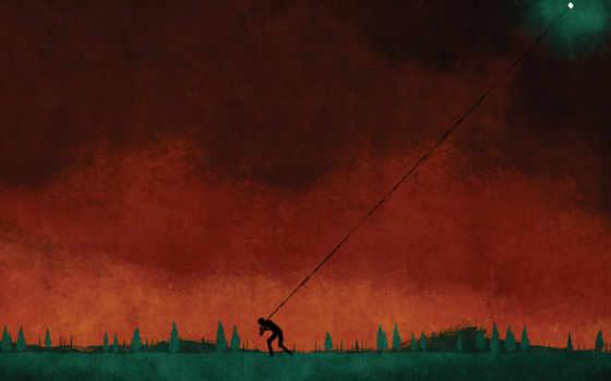 август, burns, red, constellations, фотоальбом,