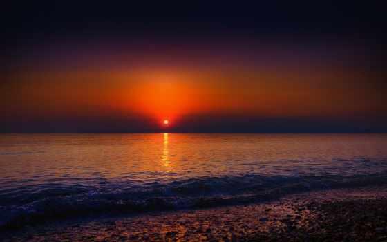 море, берег, волны