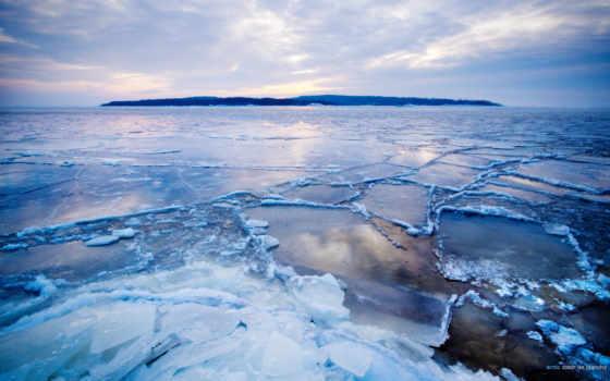 ,arctic, льдины, трещины,остров,