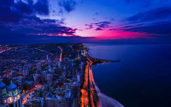 usa, chicago, дорога, город, иллинойс, дороги, картинка, america,