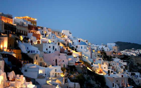 красивые, дома, белые