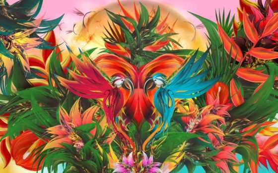 tropical, jungle, canvas, prints, art, живопись, рай, стена, pictures,