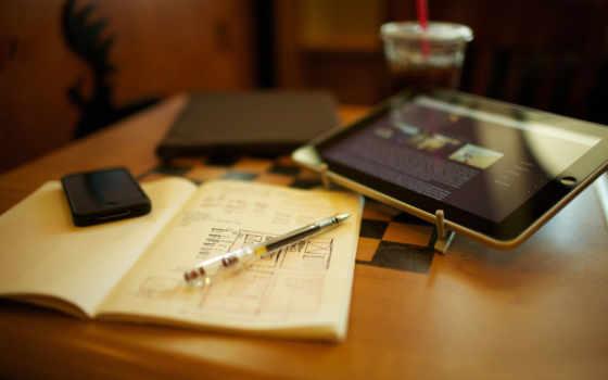 ipad, iphone, техника, ручка, тетрадь, шахматная доска