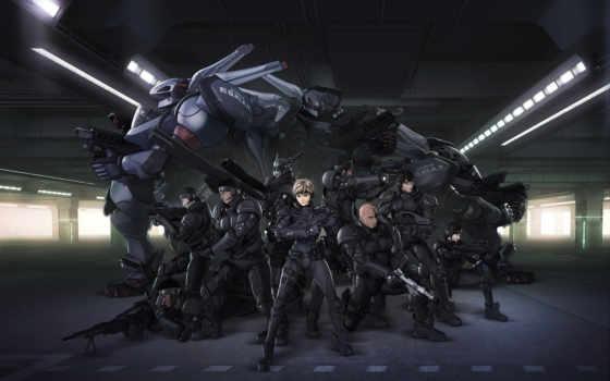 anime, aria, военные, роботы,