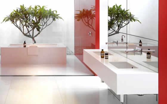 комнаты, ванная, комната, ванной, стиле, ванные, красный, dizain,
