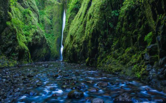 природа, desktop, водопад, река, oregon, mobile,