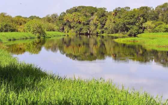 река, природа, взгляд, summer, рыбалка, hill, side, красиво,