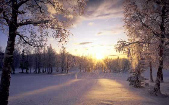 зимние, пейзажи -, природа, красивые, красивых,