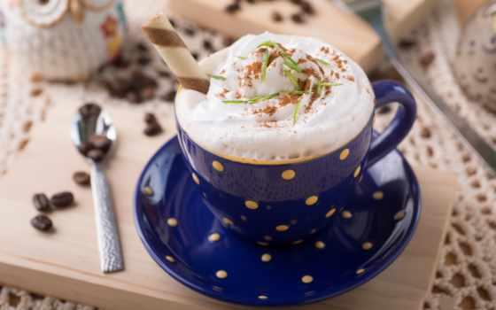 coffee, напиток, cappuccino, мороженое, пенка, cup, chocolate, сливками,