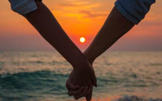 закат, руки, море, pair, love, природа, you, парень, солнца, девушка,