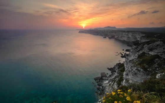 море, закат, картинка, восход, скалы, природа,