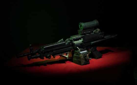 оружие, ручной, minimi, пулемет, пистолет, картинка,