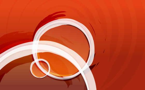 оранжевый, круги, текстура
