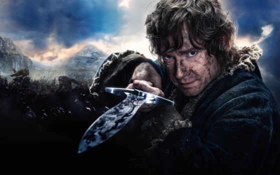 hobbit, batalla, ejércitos, cinco, los, fondos, pantalla,