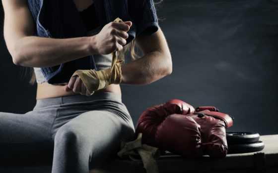 boxing, перчатки, спорт, девушка,