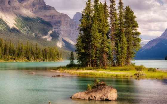 остров, озеро, mountains, дух, herunterladen, hintergrundbild, wyspa, jeziorze,