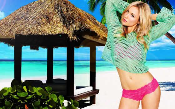 беседка, пляже, тропиках