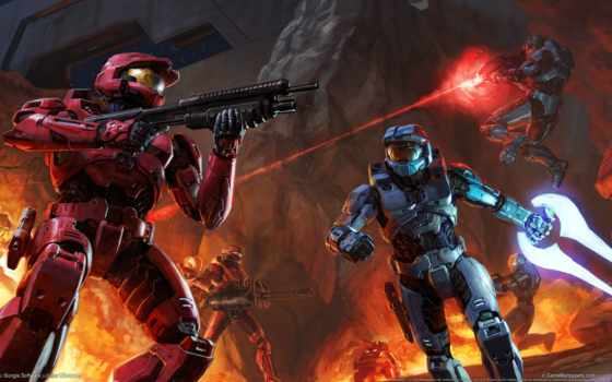 halo, red, blue, xbox, игры,