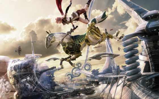 fantasy, final, xiii, lightning, последняя, постеры,