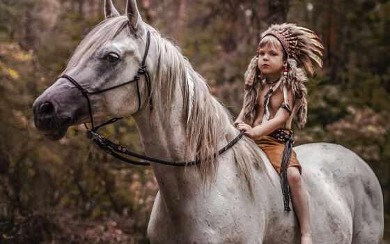 лошадь, boy, индеец, indian