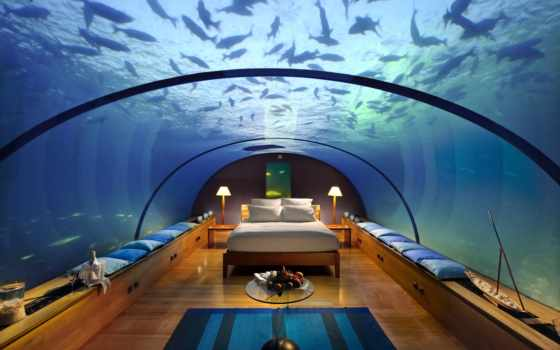 под, водой, underwater, сон, maldives, hotel, design, future, только, bedroom, мечтать, interior, tendencies, отели, conrad, rangali, island, business, можно, luxury, сладкий, постель, new, experience