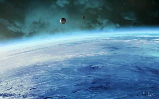 спутники, атмосфера