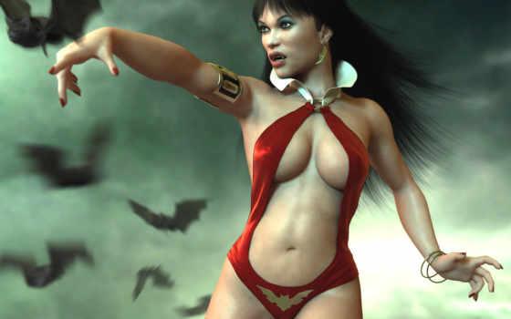 девушки, фэнтези, вампиры