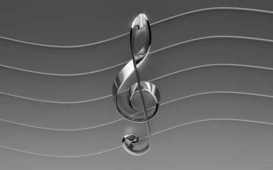 treble, clef, elegant