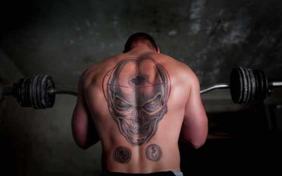 тату, спине, татуировки, мужские, пояснице, мужская,
