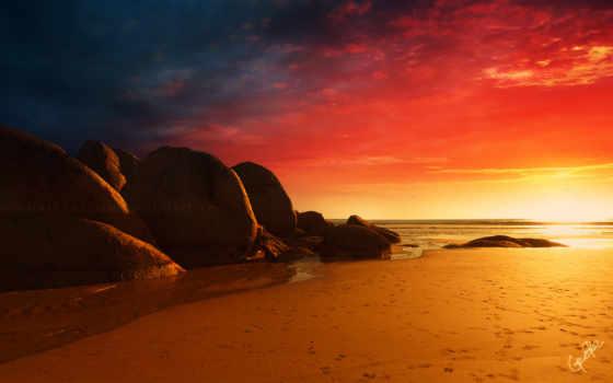 пляж, desktop, можно