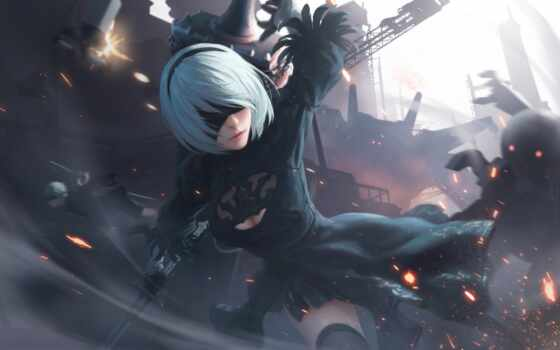 automata, nier, keiichi, yorha, вид, игры, playstation, free,