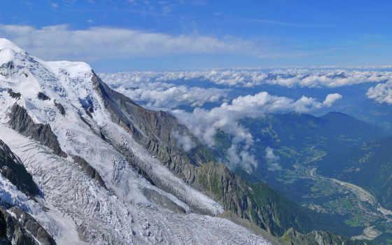 горы, снег, зима
