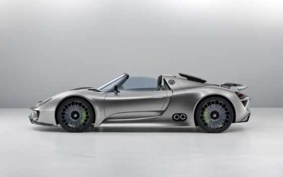 porsche, spyder, автомобили, сбоку, electric, роскошные, hybrid, car,