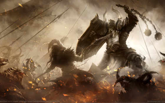 diablo, крестоносец, reaper, souls, iii, картинка,