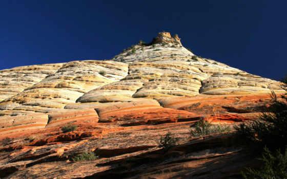 zion, park, national, utah, checkerboard, mesa, rock, landschaft,