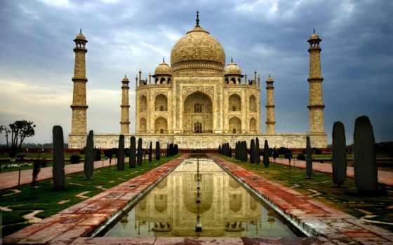 mahal, тадж, india, taj, mosque, agra, река, город, architecture, рассвет,