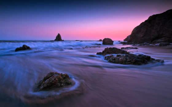 пляж, state, matador, закат, waves, malibu,