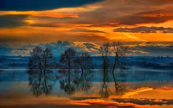 природа, collector, закат, красивых, anime, landscapes, фон, красивая,