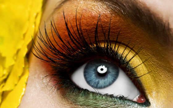 глаз, красивый, женский, макияж