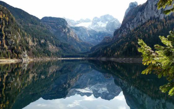горное озеро, природа