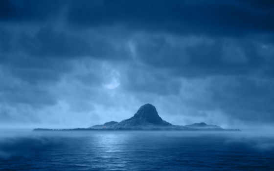 blue, остров, природа, insulă, wallpapere, гора, изумительные, пейзажи,