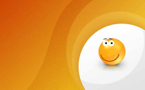 orange, smiley