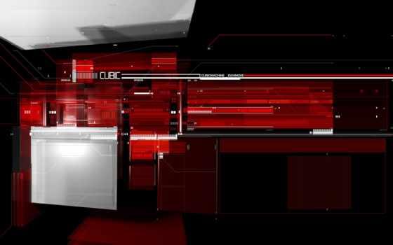 абстракция, red, линии