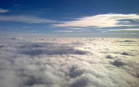 oblaka, небо, blue
