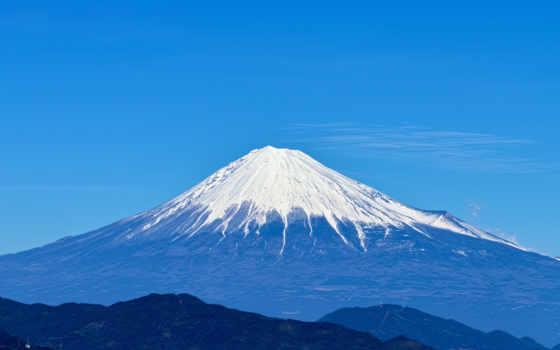 фудзияма, гора, japanese, вулкан, фудзи, священная, небо, снег, япония, landscape,