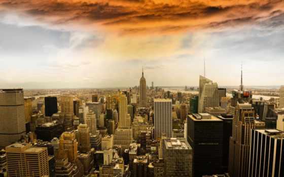 нью, new, york, город, manhattan, февр, города,