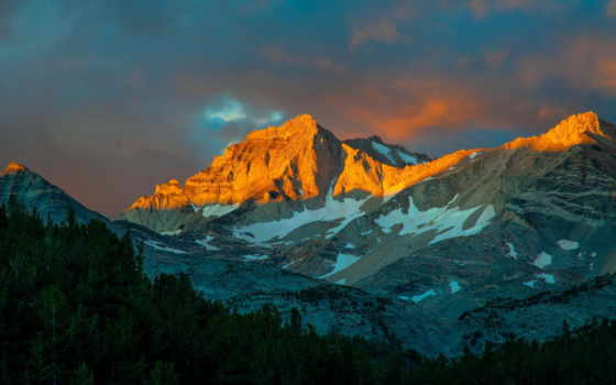 горы, sierra, восток, abyss, небо,